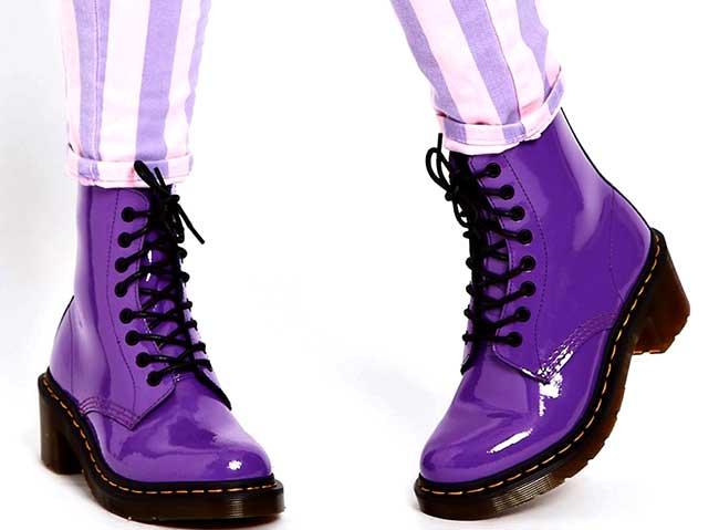 Ботинки мартинсы женские зимние