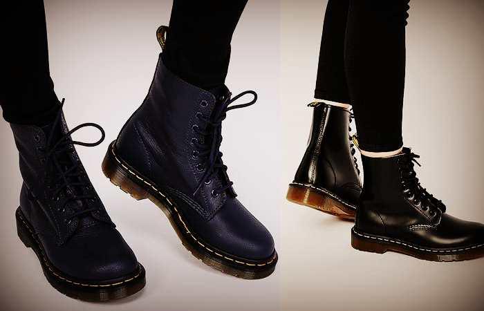 Женские ботинки на шнурках Dr.Martens