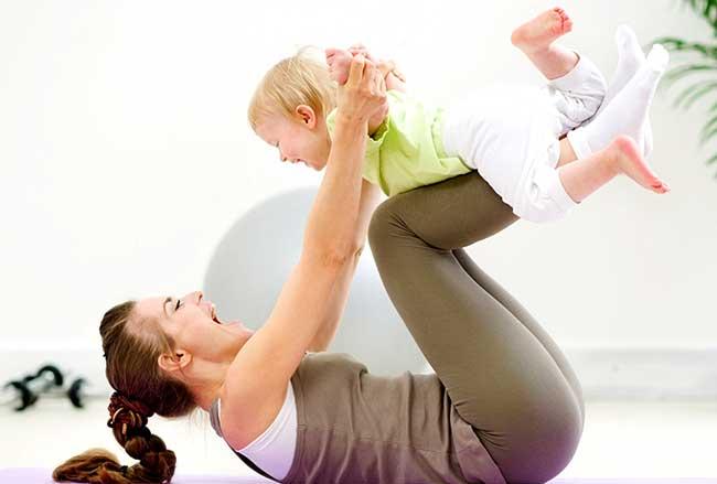 комплекс физических упражнений для мамы и детей