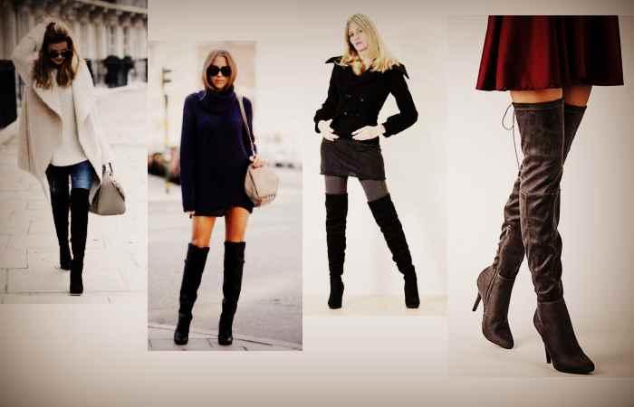 Под что одеть женские ботфорты из натуральной кожи