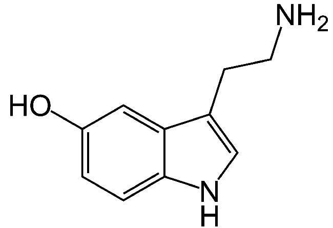 Формула гормона - серотонин