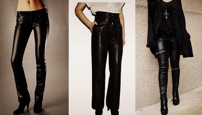 Женские модные весенние кожаные брюки