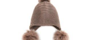Зимняя женская меховая шапка