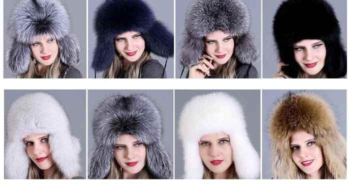 Выбор цвета меховой шапки для женщин