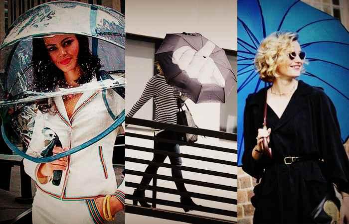 Как выбрать и носить зонтик