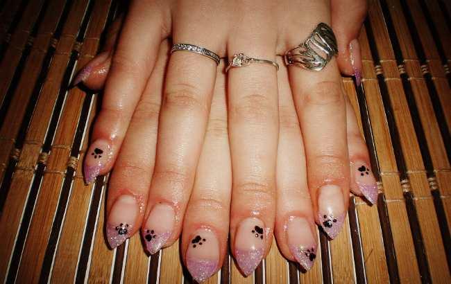 дизайн ногтей наращивание акрилом