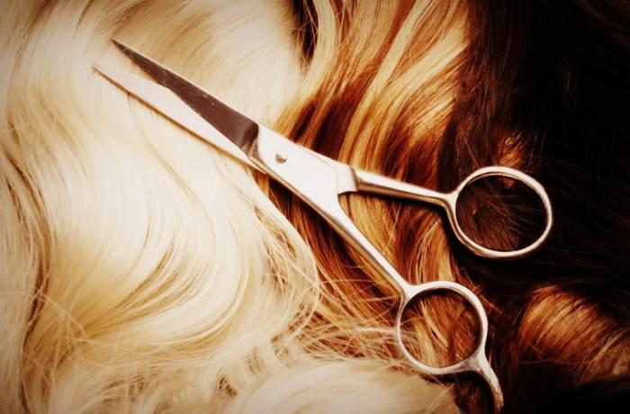 Полировка волос с помощью ножниц
