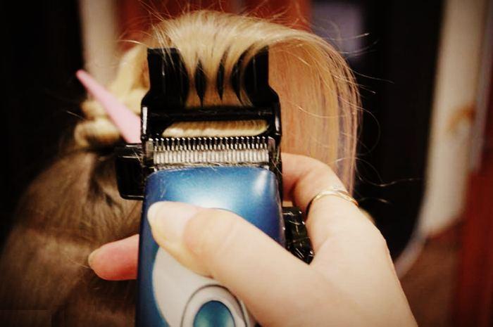 Полировка волос в салоне
