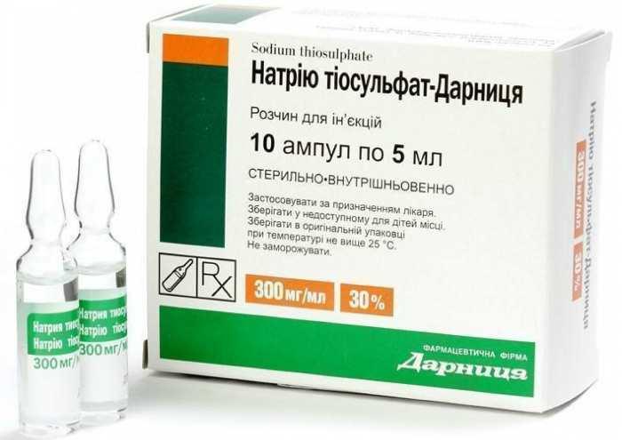 Натрия тиосульфат раствор для инъекций