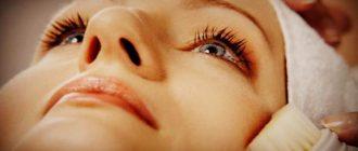 Косметическая процедура броссаж лица