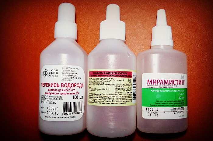 Хлоргесидин, перекись водорода и мирамистин