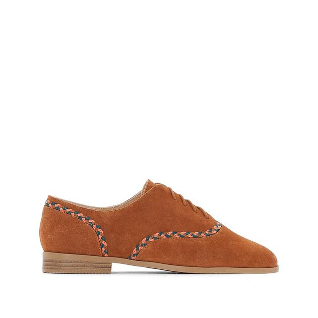 Ботинки-дерби из кожи с отделкой тесьмой