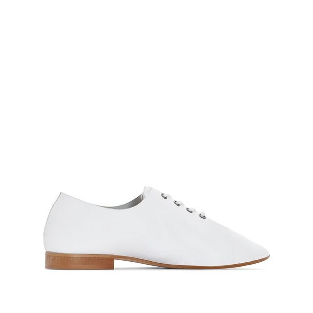 Ботинки-дерби кожаные белые