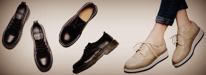 Женские туфли Дерби со шнуровкой