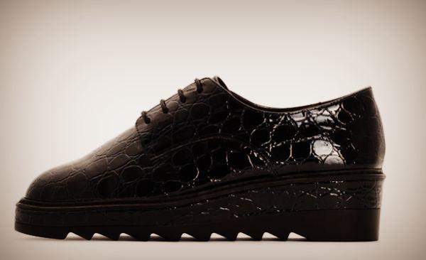 Ботинки - Дерби под кожу крокодила