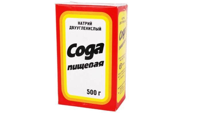 Сода пищевая в картонной упаковке