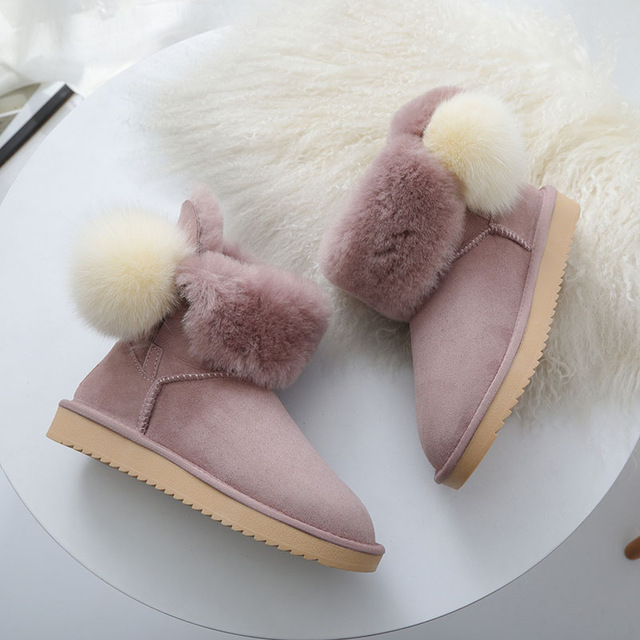 MIYAGINA новые зимние ботинки на натуральной овчине натуральным мехом Botas Mujer зимние натуральная шерсть модная женская обувь