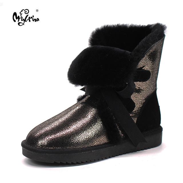 Оптовая продажа/Розничная продажа 2018 Австралия высокого качества Для женщин классический Снегоступы из натуральной овечьей кожи средней длины зимние ботинки Для женщин s
