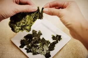 Сухие листья морской капусты - приготовление рецепта