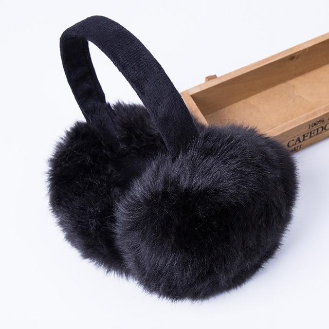 Мода Кролик Мех животных Для женщин Наушники для женщин для брендовая зимняя Наушники для женщин удобные теплые уха крышка уха грелки для Обувь для девочек Регулируемый