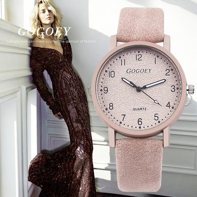 Gogoey Марка Для женщин часы модные кожаные Наручные часы Для женщин часы женские часы Mujer; Bayan коль Saati Montre Feminino