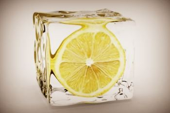 Лед с лимоном от морщин