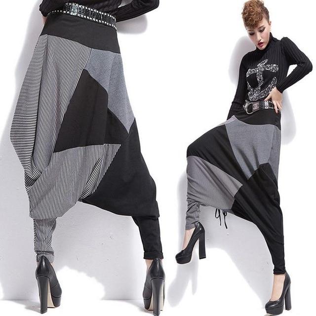 Новые женские Брюки для девочек Дамские шаровары хлопковые брюки повседневные штаны хип-хоп Брюки для девочек
