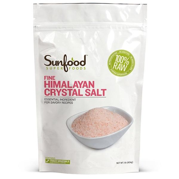 Sunfood, Изысканная гималайская кристаллическая соль, 1 фунт (454 г)