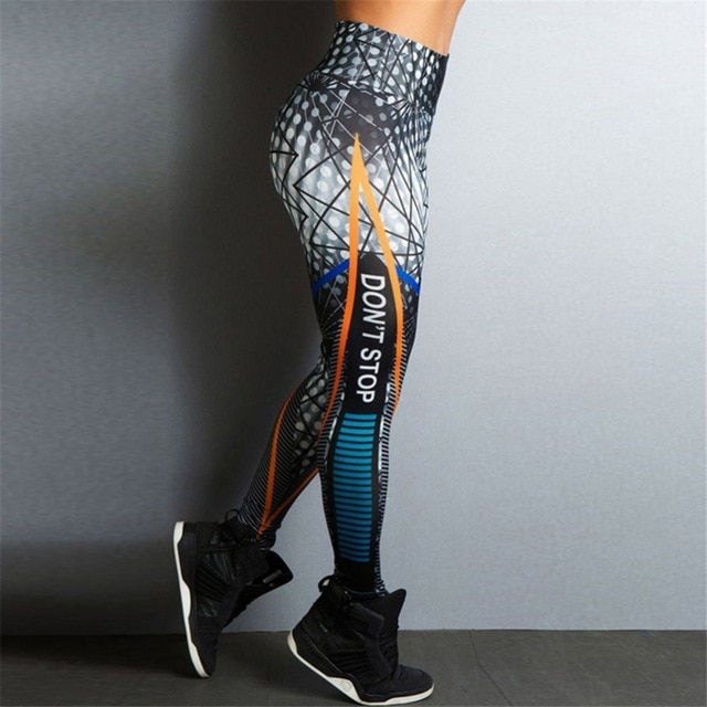 2018 Ins же стиль для женщин Фитнес Леггинсы для узкие Высокая талия эластичные Push Up тренировки пикантные длинные штаны