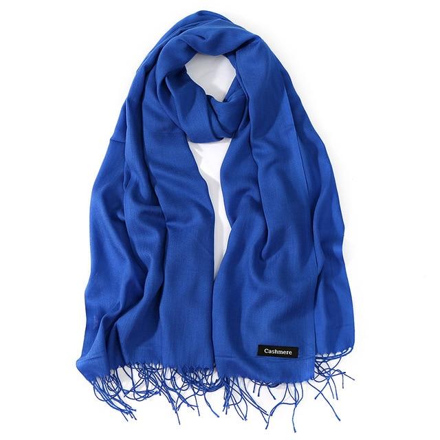 2018 новый элитный бренд для женщин кашемир сплошной шарф дамы весна/осень кашемировая шаль и обёрточная бумага женский платки хиджаб палантины