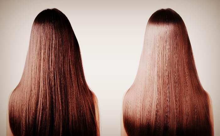 Волосы До и После применения Димексида