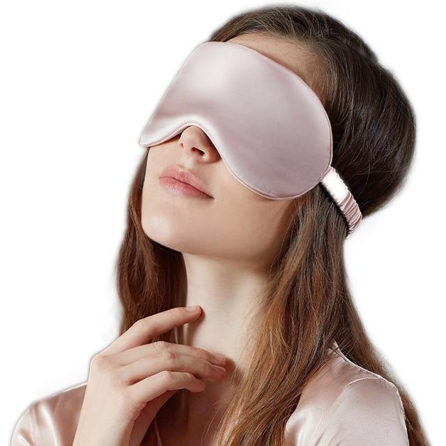 Гладкие высококлассные шелковая маска для сна Мягкие тени для глаз портативный путешествия повязка на глаз дышащий повязка на глаза для отдыха глаз крышка ночной повязка для сна