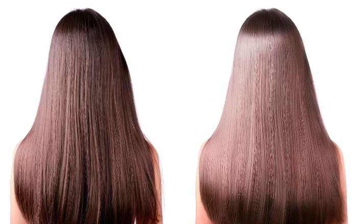 Процедура буффант - волосы до и после