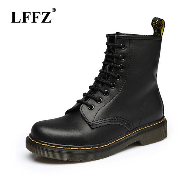 2018 Для женщин сапоги Dr ботинки «мартенс» высокое качество спилок обувь высокие мотоциклетные осень-зима обуви женские зимние сапоги ST50