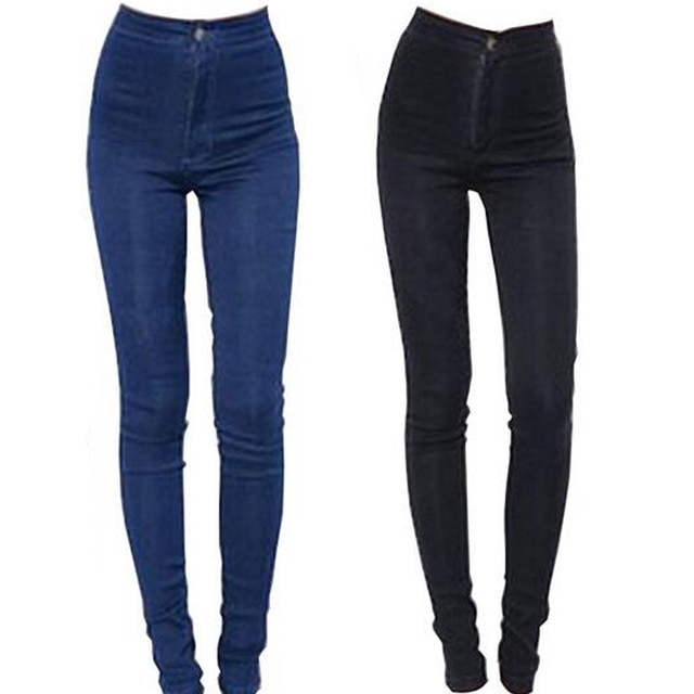 2018 новые модные джинсы женские узкие брюки с высокой талией джинсы пикантная тонкая эластичная узкие брюки подходят леди джинсы Большие размеры