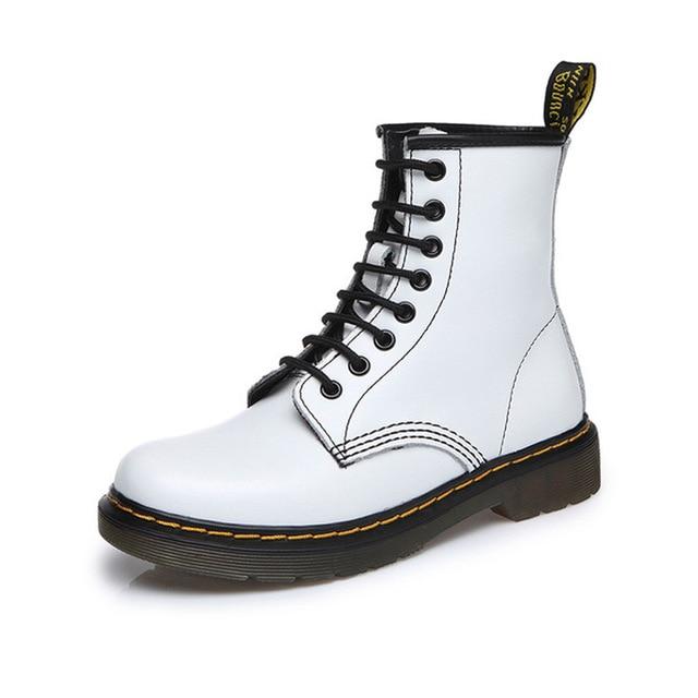D Martens/женские кожаные ботинки наивысшего качества, ботинки Dr martin, мотоциклетные ботинки с высоким берцем, сезон осень-зима, женские зимние ботинки