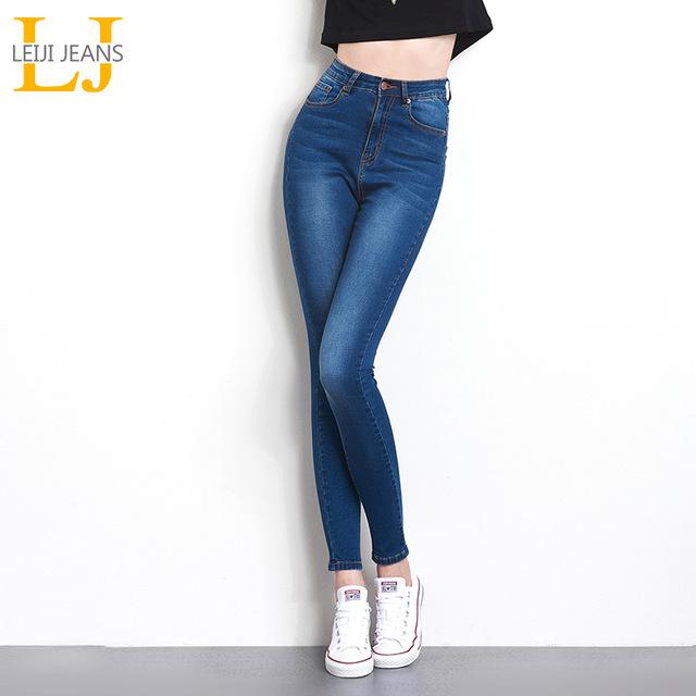 Джинсы для Для женщин черные джинсы Высокая Талия Джинсы женские высокие эластичные большого размера растягивающиеся женские джинсы из стираного денима обтягивающие узкие брюки