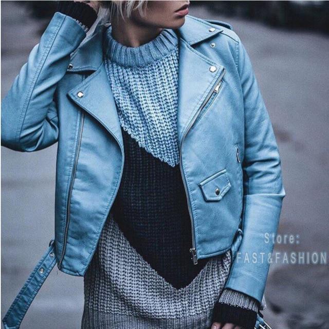 Новинка 2018 года модные женские туфли Осень Зима цвет красного вина Куртки из искусственной кожи леди бомбер мотоцикл крутая верхняя одежда пальт