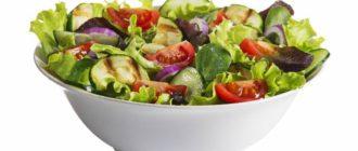 Низкокалорийный салат для похудения из простых продуктов