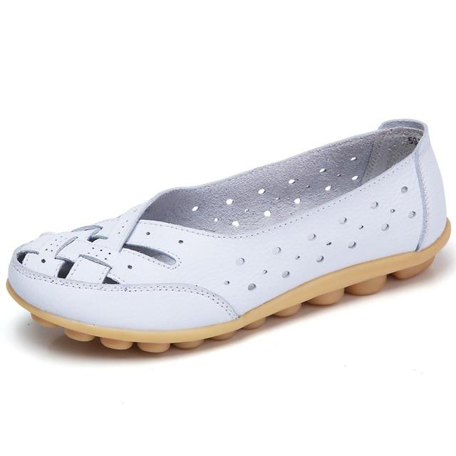 Туфли на плоской подошве для женщин, туфли на плоской подошве из натуральной кожи, женские слипоны, лоферы, балетки, женские мокасины, большие размеры 35-44