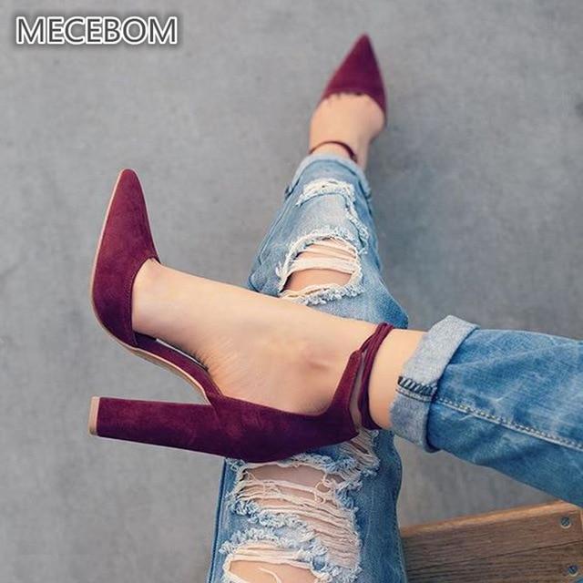 Женские туфли-лодочки, пикантные туфли на высоком каблуке, женские туфли на шнуровке с острым носком, вечерние свадебные туфли-лодочки, черные женские туфли, Размеры 35-43, chaussures femme 2253 W