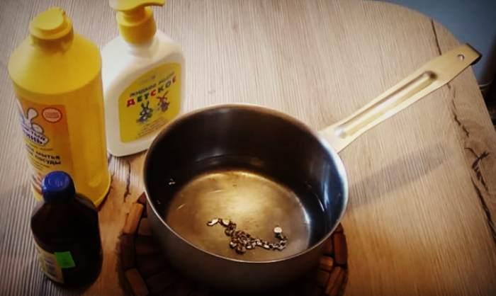 Чистка золота моющими средствами