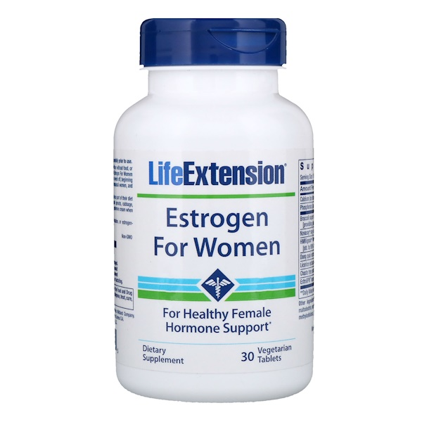 Life Extension, Эстроген для женщин, 30 вегетарианских таблеток