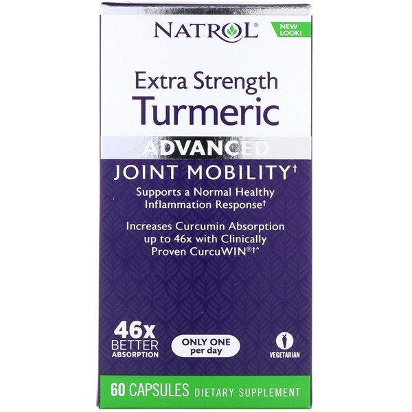 Natrol, Куркума повышенной силы, улучшенная, 60 капсул