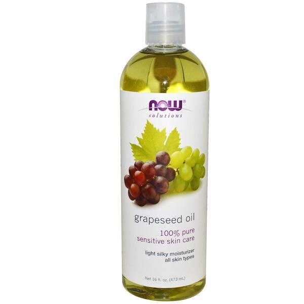 Now Foods, Решения, масло из виноградных косточек, 473мл