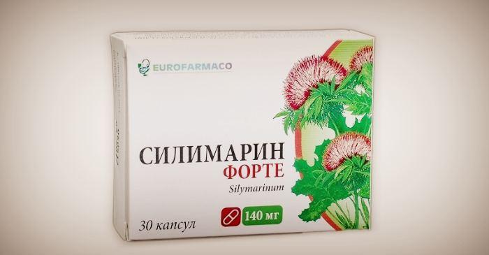 Препарат Силимарин на основе расторопши