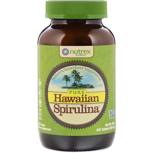 Nutrex Hawaii, Pure Hawaiian Spirulina, 500мг, 400таблеток