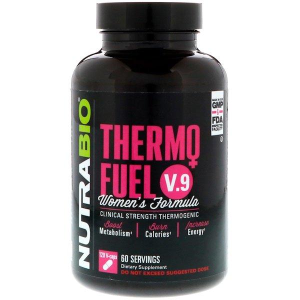NutraBio Labs, ThermoFuel V.9 Формула для женщин, 120 растительных капсул
