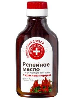 Репейное масло стимулирующее рост волос с красным перцем 100 мл.