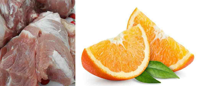 Шашлык из свинины с апельсиновым маринадом